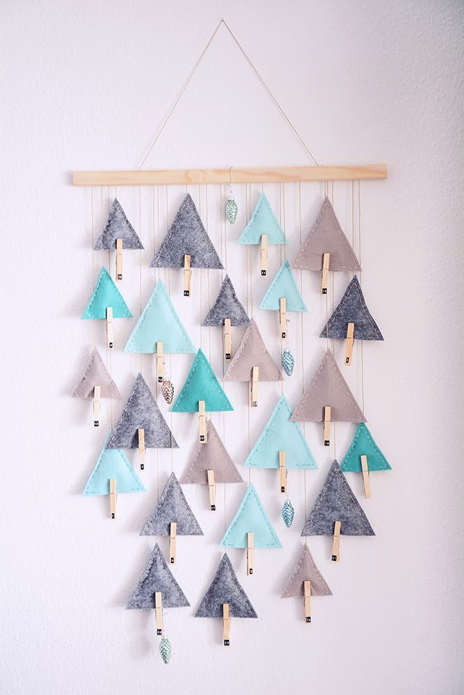 Rotkehlchen: DIY: Advent Calendar Triangle Trees