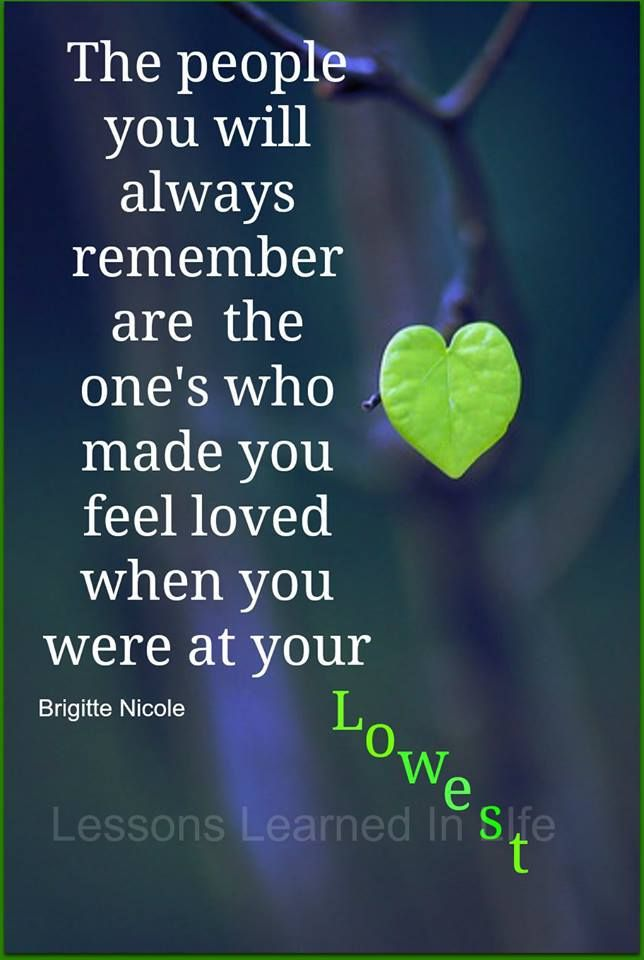 You feel loved. <3