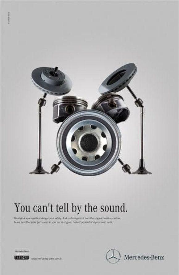 Fresh and creative car advertising ideas marketing for Spare parts mercedes benz