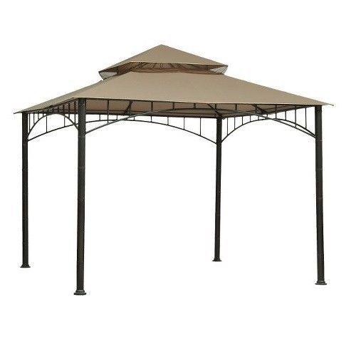 Gazebo Canopy Replacement 10x10 Madaga Olive Weather UV Resistant Terylene #Madaga