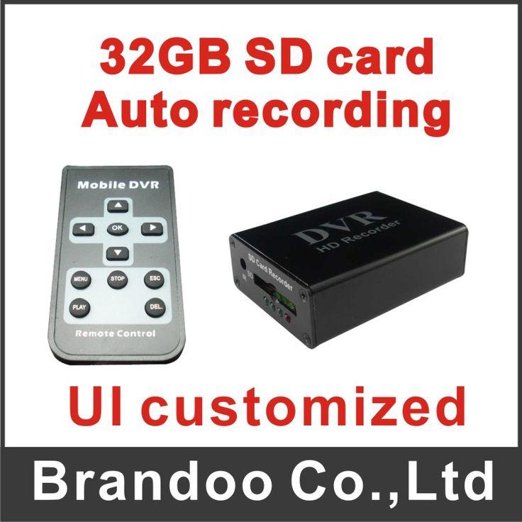 black xbox dvr,1 channel SD card recorder, motion detection DVR for hidden recording