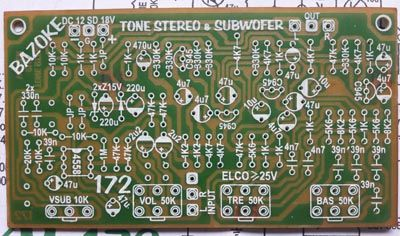 PCB layout Design Stereo Tone