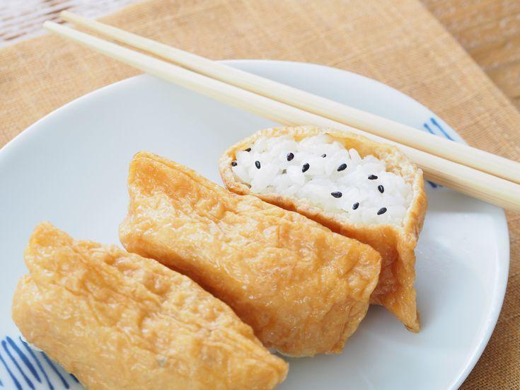 Make Your Own Rice Stuffed Tofu Pockets Inari Sushi Recipe Sushi Recipes Homemade Food Japanese Food Sushi
