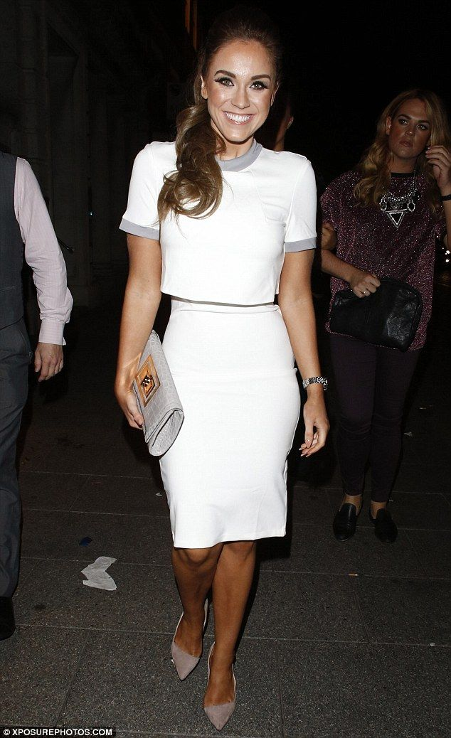 Geordie Shore's Vicky Pattison shows off slim frame in white dress #dailymail