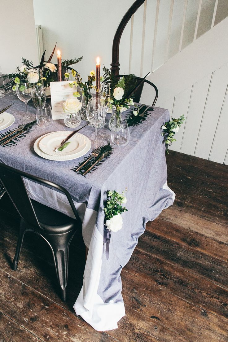 Bohemian Botanical wedding tablescape in association with Waterford |  Flowers by Ruby & The Wolf | http://www.rockmywedding.co.uk/tablescape-trends/