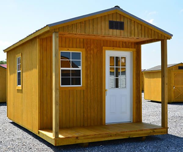 Portable Sheds And Cabins : Derksen portable treated cabin with porch visit