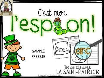 SAMPLE FREEBIE - C'est moi l'espion! La Saint Patrick