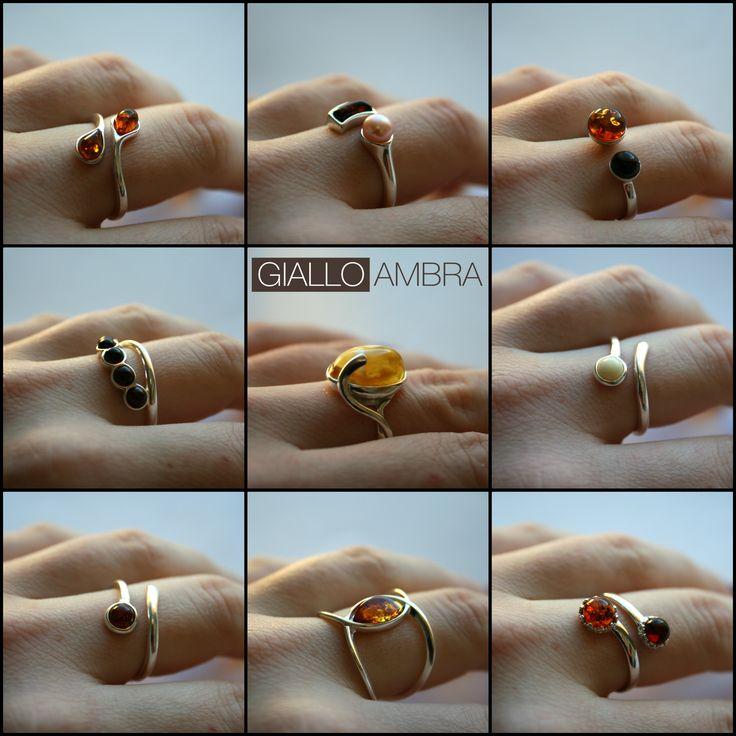 Scopri tutti gli anelli Giallo Ambra goo.gl/QOqOa7  ✫ Solo Ambra Baltica e Argento 925 ✫ A partire da 27€ ✫ Spedizione GRATIS con ordini superiori a 50€  #anelli #gioielli #shopping #shoponline #gioiellieria
