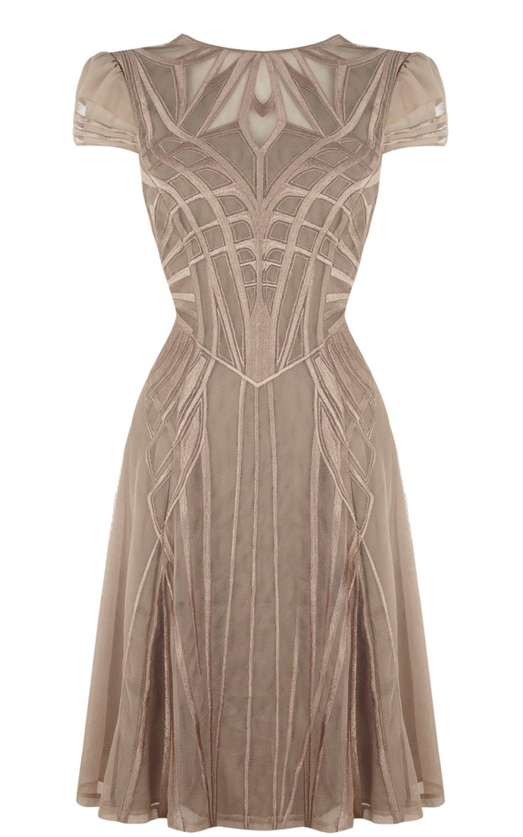 Geometric embroidery dress -- Stunning art deco dress |  CLICK THIS PIN if you want to learn how you can EARN MONEY while surfing on Pinterest