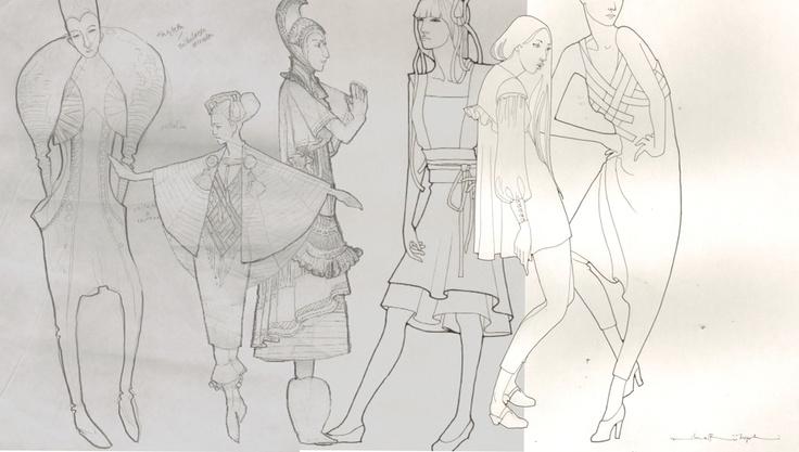 Sketches from Wetterhoff wintage projekt, by Vilma Riitijoki