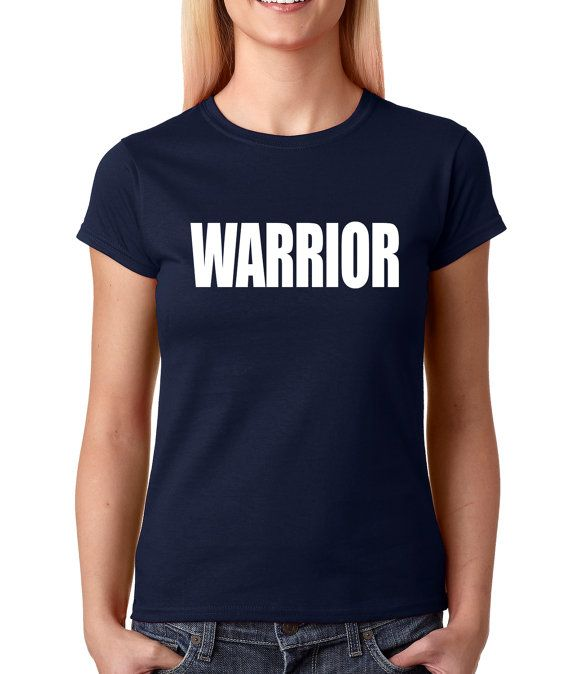 Women's Warrior Shirt Printed Armed Forces from $10.99 at xpressiontees.etsy.com | #ExpressionTees