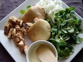VA DE PAN: Pan pita con pollo a la griega