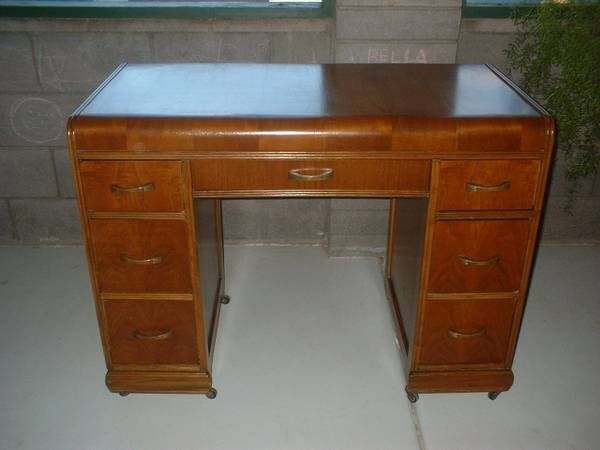 1930s Art Deco Waterfall Desk Furniture Pinterest