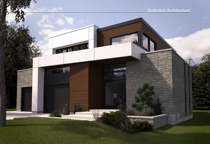 Evolution architecture maison moderne cr ation exclusive e for Revetement exterieur maison moderne
