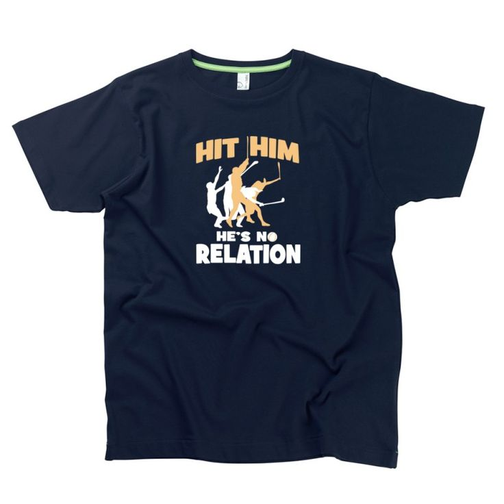 Hit Him, He's No Relation Gent's T-Shirt by Hairy Baby