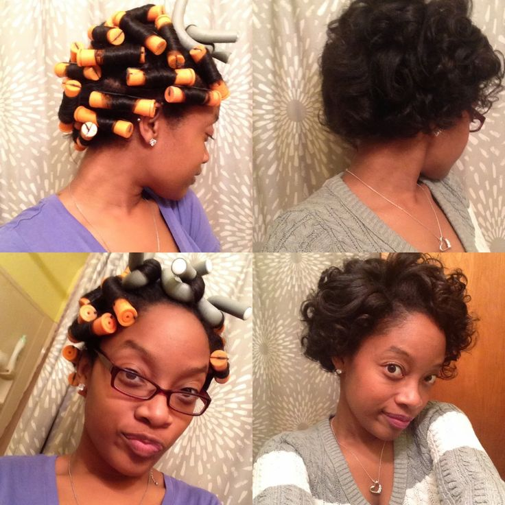 Excellent 1000 Images About Natural Hair Flexi Rods Cold Wave Rods Straw Short Hairstyles Gunalazisus