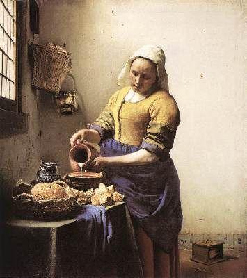 The Kitchen Maid 1658 - Vermeer