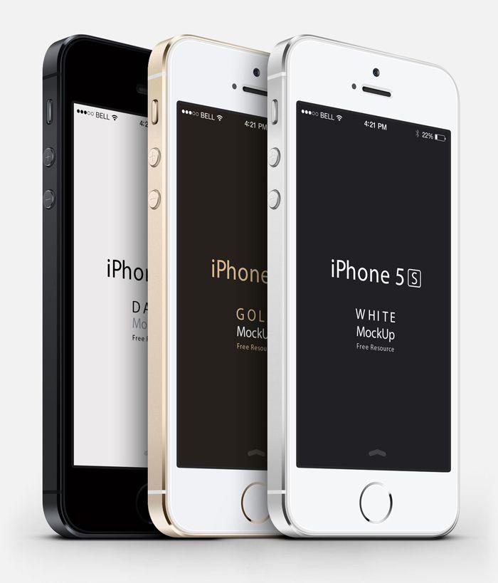 iPhone 5S PSD Mockup