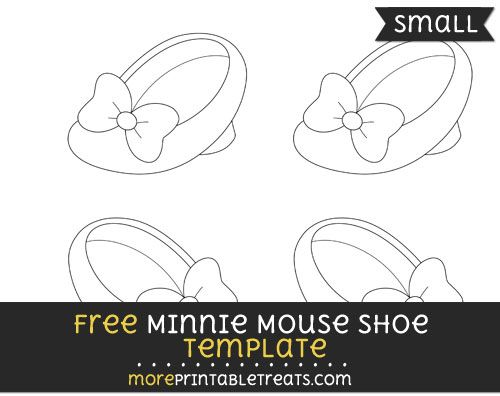 Free Minnie Mouse Shoe Template