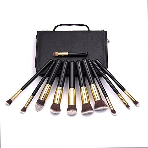 Unimeix Kabuki Makeup Brush Set - Foundation Powder Blush Concealer Kit With PU Leather Case Bag - Premium Synthetic Bristles - 11 Piece Collection With Eye and Face Brushes - Perfect For Liquid, Cream or Minerals Products(Black Golden) Unimeix http://www.amazon.com/dp/B00UHHRECI/ref=cm_sw_r_pi_dp_GMBvvb1MYZC4M