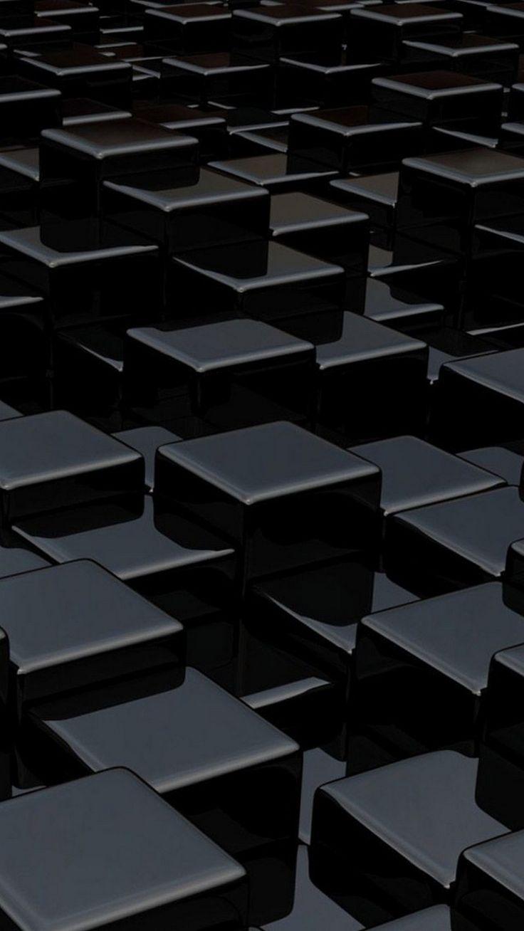 3D Black iPhone Background - Best iPhone Wallpaper