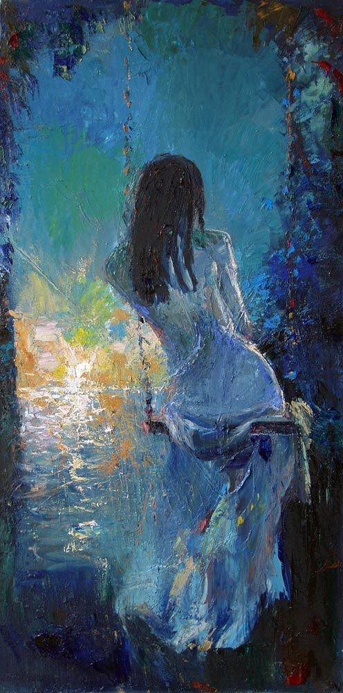 Oil Painting by Mstislav Pavlov, Russian Impressionistic painter born 1967