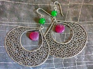 Orecchini Why Not filigree and stones earrings