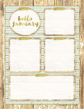 Have some information about your classroom that you want to share? School picture information, field trips, homework, spelling words, reminders? Get the information out quickly, professionally, and stylishly with this rustic glam EDITABLE January newsletter template!
