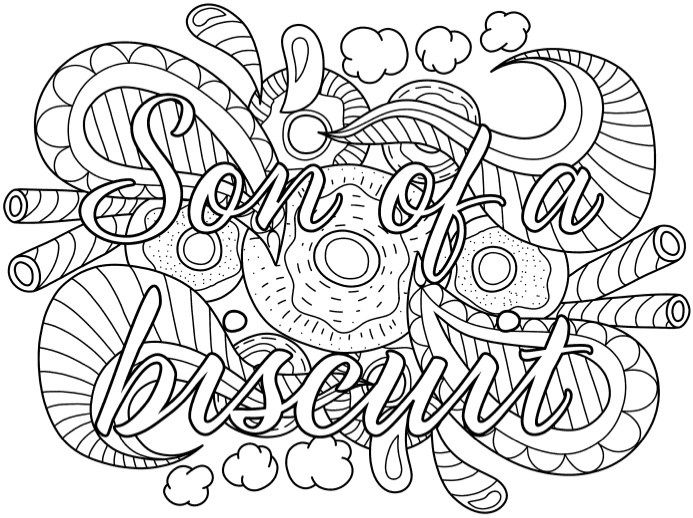 best swear word coloring books a giveaway - Art Pages To Color