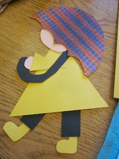 If you think this little umbrella girl is cute....you'll love the BULLETIN BOARD that was made entirely of them!