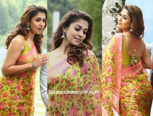 nayanthara_babubangaram_floral_sarees_online
