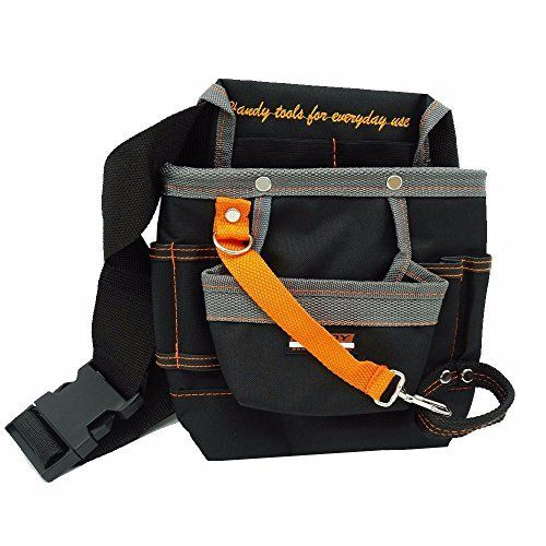 8 Pockets Oxford Tool Pouch Electrician Tools Bag Electrician Tool Belt Waist Pocket Tool Belt Pouch work belt ZK44 * Click on the image for additional details.