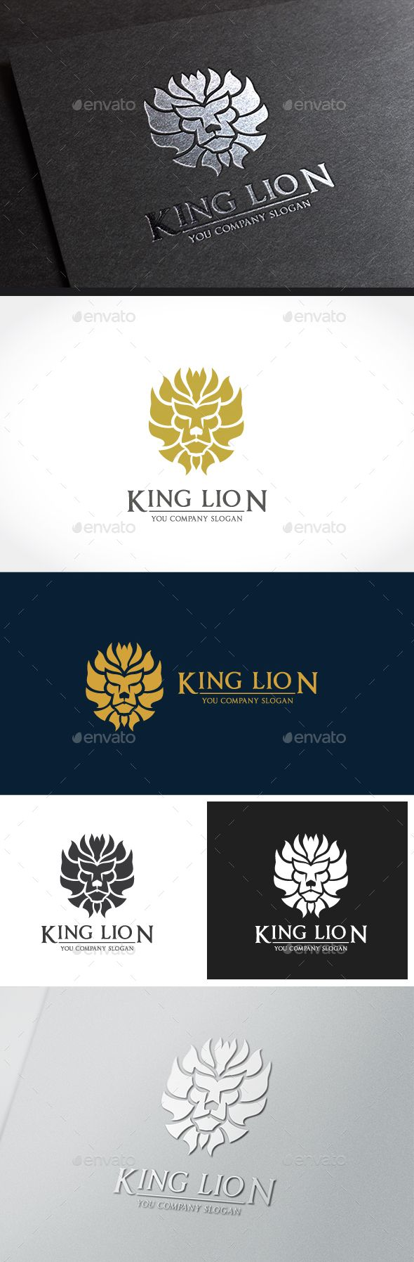 King Lion Logo Design Template Vector #logotype Download it here: http://graphicriver.net/item/king-lion/14277010?s_rank=1697?ref=nexion
