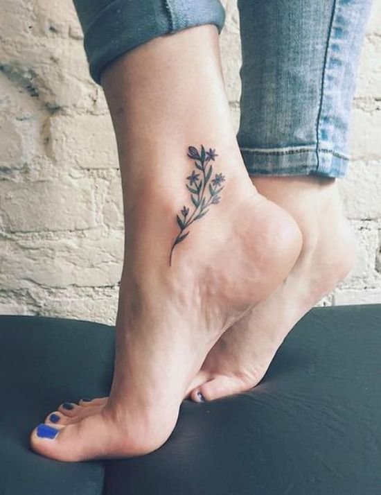 delicate ankle tattoo