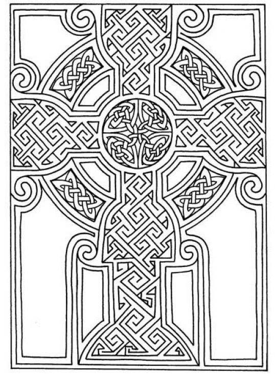 Advanced coloring page celtics mosaic art print, love mandala coloring pages