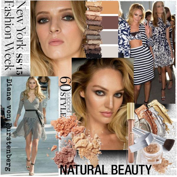 NYFW S/S15 Naturall beauty Diane von Furstenberg