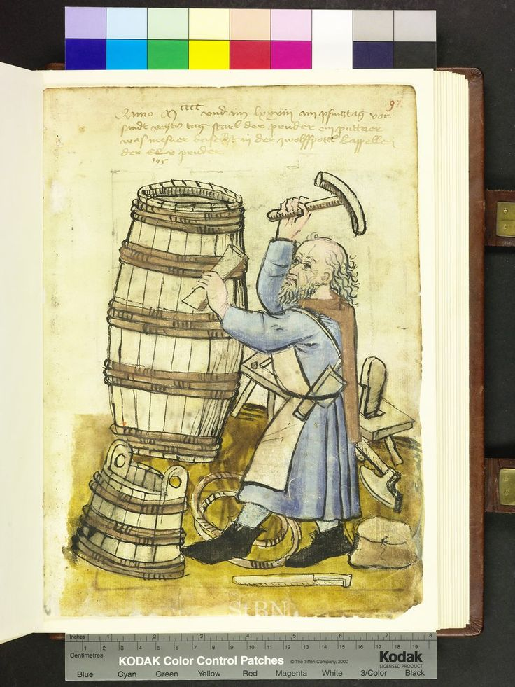 Amb. 317.2° Folio 97 recto 1500s: Crafts and trades, Germany