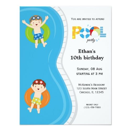 134 best Pool Birthday Party images – Swimming Party Invitation Template