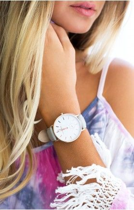 The Horse Classic Rose Gold Grey Leather Wrist Watch - - PRE ORDER