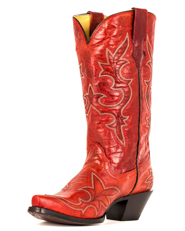 Women's Desert Red Goat Leather Boot - When I was little I went through 3  or 4 pairs of red cowboy boots.
