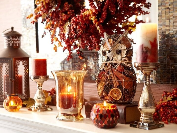 17 Best images about ThanksgivingFall Mantels – Fall Mantel Decorations