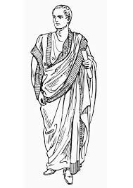 Toga:Een soort kledingstuk dat de Romeinen droegen.