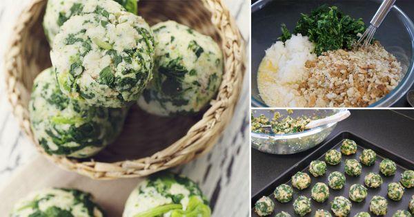 Cómo+preparar+deliciosas+bolitas+de+espinaca