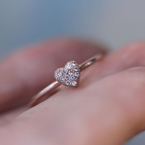 Best 25 Rose gold heart ring ideas on Pinterest