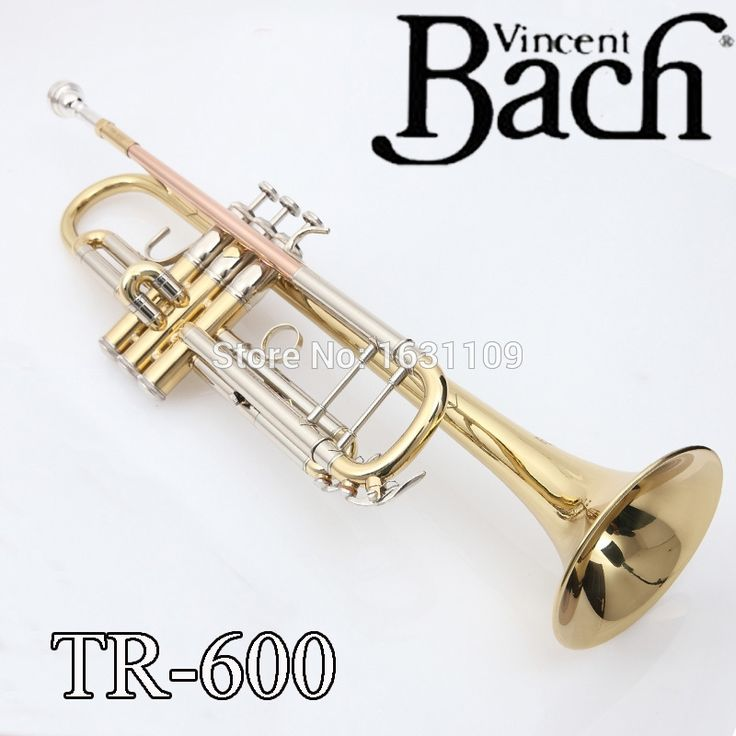 150.00$  Watch now - http://alimua.worldwells.pw/go.php?t=32759851044 - Promotion Bach Trumpet TR-600 Brass Small Trompeta Brass Instruments Cupronickel in Section Mouthpiece Gloves Musical Instrument