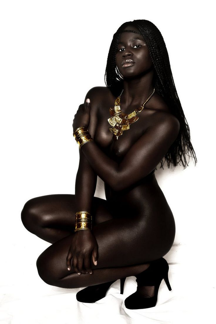 naked dark skinned black girls