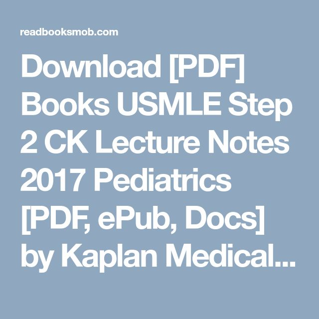 11 best usmle step 2 ck images on pinterest blog 1 and amazon download pdf books usmle step 2 ck lecture notes 2017 pediatrics pdf fandeluxe Gallery