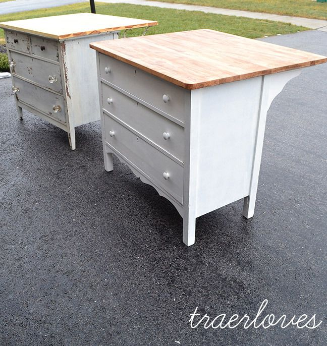 Kitchen Islands Made From Old Furniture: 96 Best Old Dresser Into Kitchen Island Images On