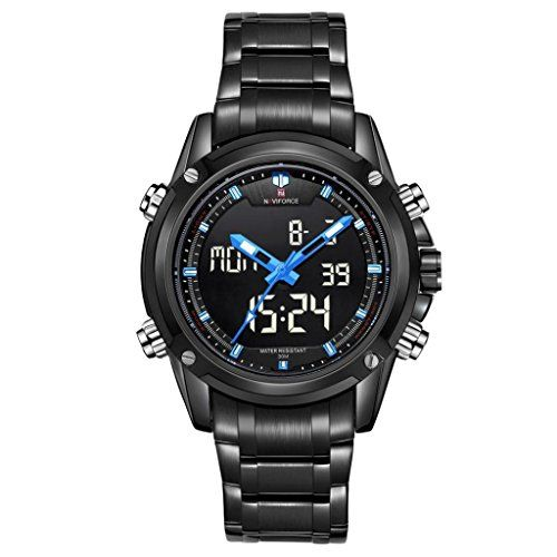 POTO Men Leisure And Sports Steel Quartz Waterproof Watch (BLUE) -- Read more reviews of the product by visiting the link on the image.