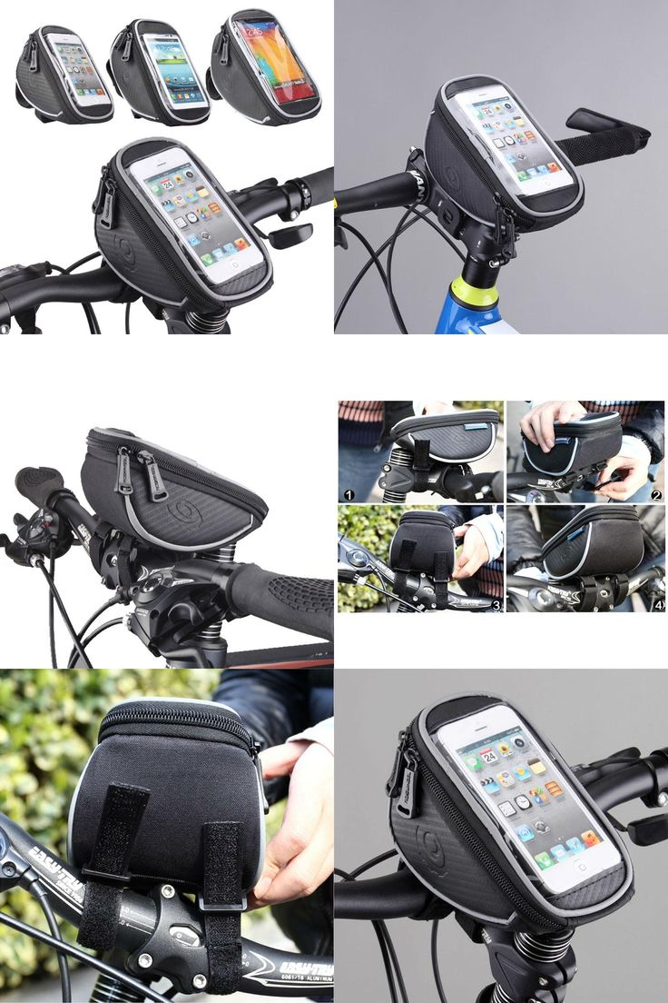 """[Visit to Buy] 4.2"""" 5"""" 5.5"""" ROSWHEEL Touchscreen Bicycle Phone Case Cycling Top Tube Bag Panniers Mountain Bike Handlebar Bycicle Bag Pouch #Advertisement"""